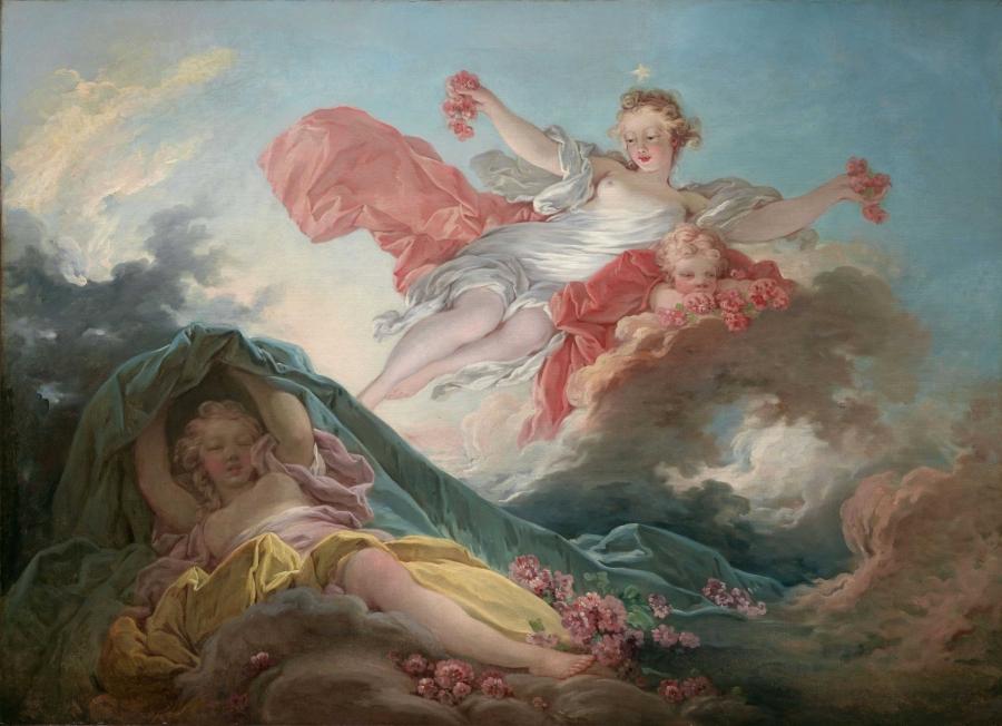 Aurora Triumphing over Night, Jean-Honoré Fragonard, about 1755-56
