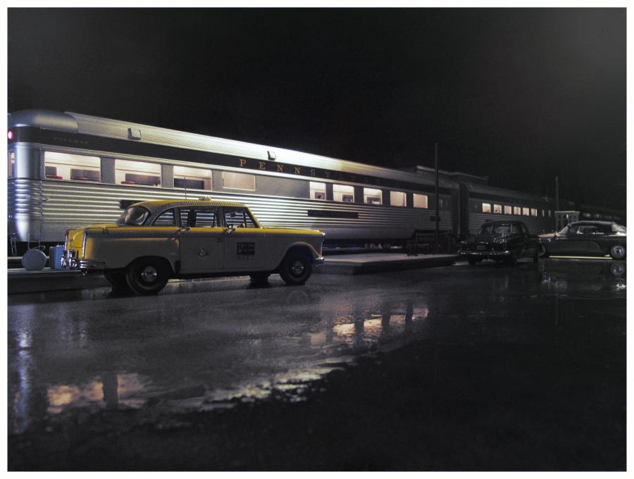 """A scene titled """"Last Taxi to the Station"""""""