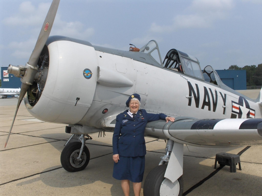 Elaine Harmon, one of just over 1000 women who served as WASPs, or Women Airforce Service Pilots