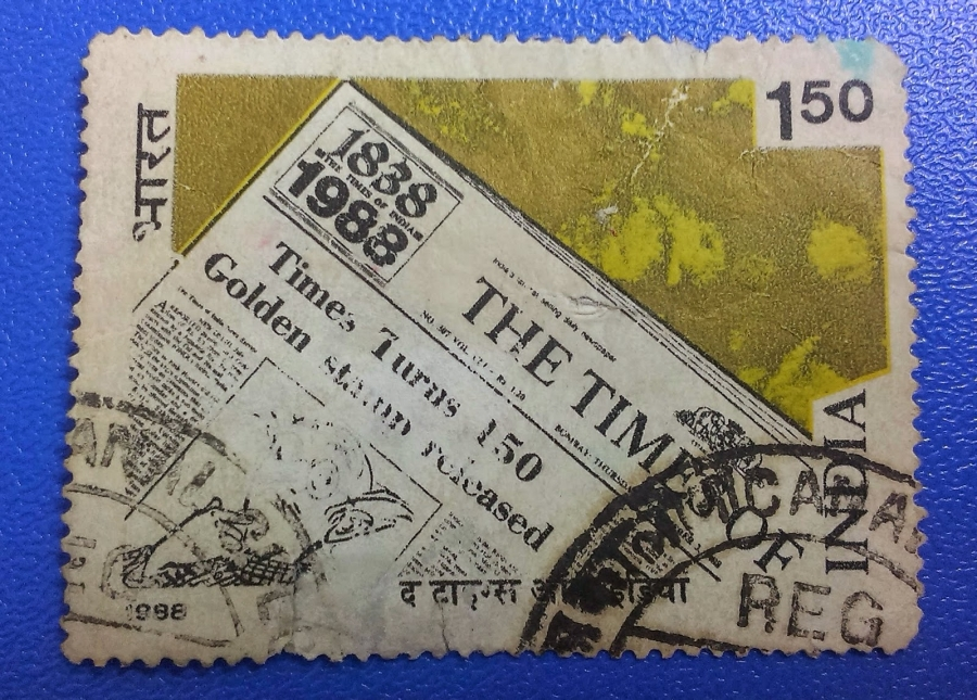 In 1988, the Indian Postal Service issued a stamp commemorating the 150th anniversary of The Times of India, the home of The Common Man.