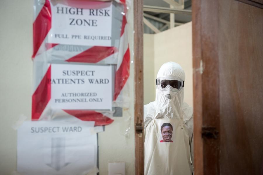 Morris Zolu, Hygienist, entering Red Zone.