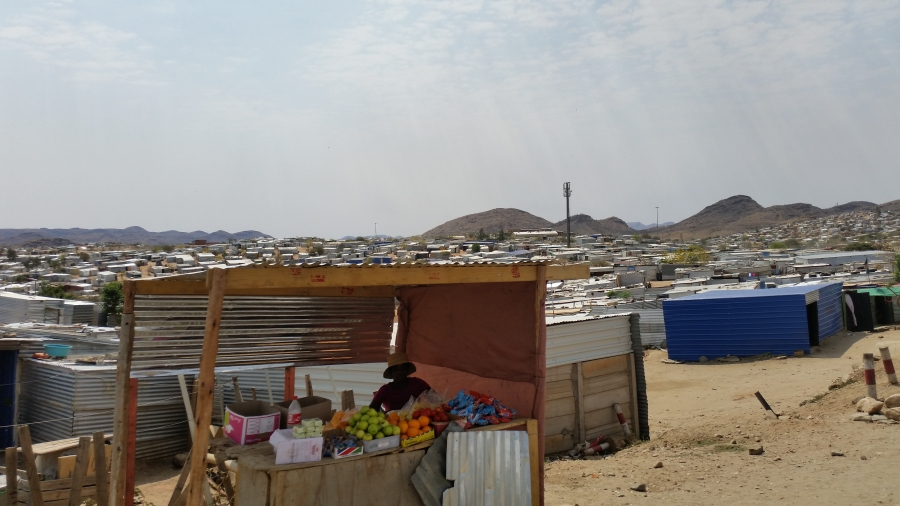 The cutting-edge water recycling plant serves a city with many poor neighborhoods, like this one right outside its gates. Pierre van Rensburg says necessity is the mother of invention in developing countries like Namibia, which he thinks can lead the worl