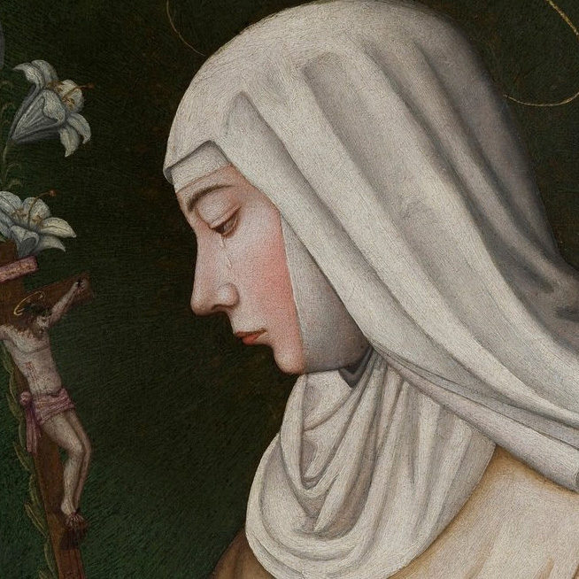 "Plautilla Nelli's ""Saint Catherine with a Lily,"" restored in 2013."