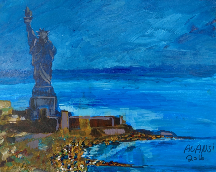 Untitled (Statue of Liberty) by Muhammad Ansi.