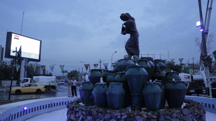 Statue of Kahramana, Baghdad, Iraq.