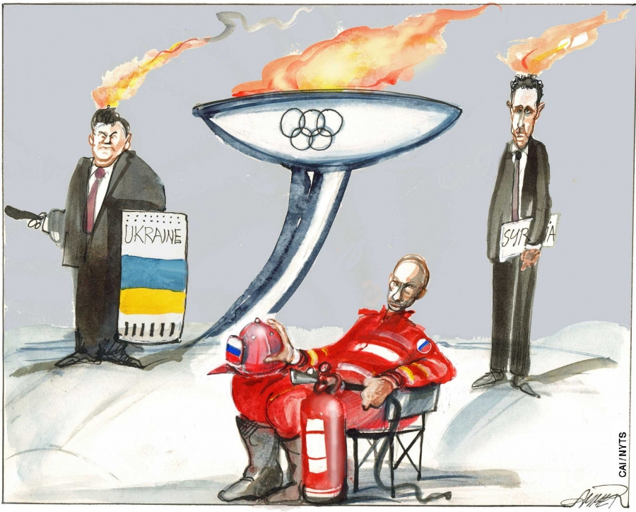 Vladimir Putin would like to put two of these flames out.