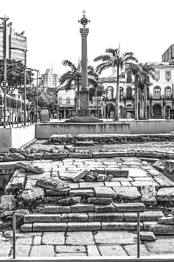 The Valongo was Rio's main slave market during the early 19th century.