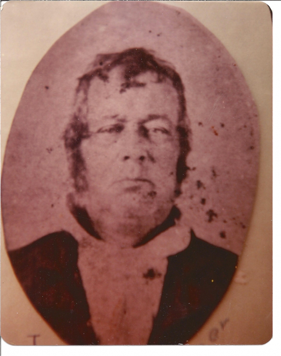 Historical, sepia image of man
