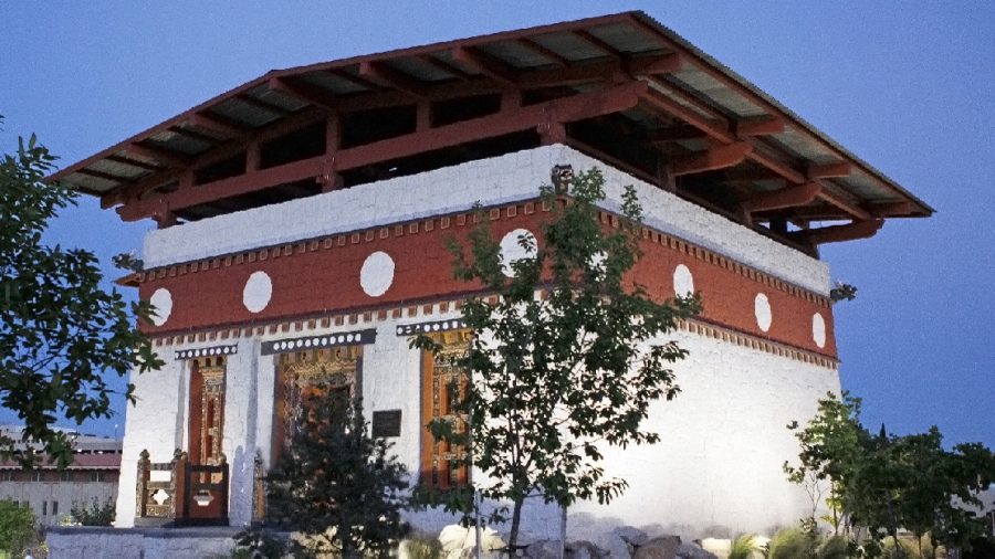 A Bhutanese temple was moved from a folklife festival in Washington, DC, and reconstructed at the University of Texas at El Paso. It's now a permanent part of the campus.
