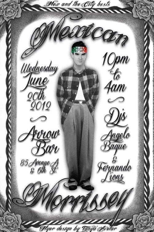 """A flyer for the """"Mex Moz"""" club night in hosted by Mex and the City."""