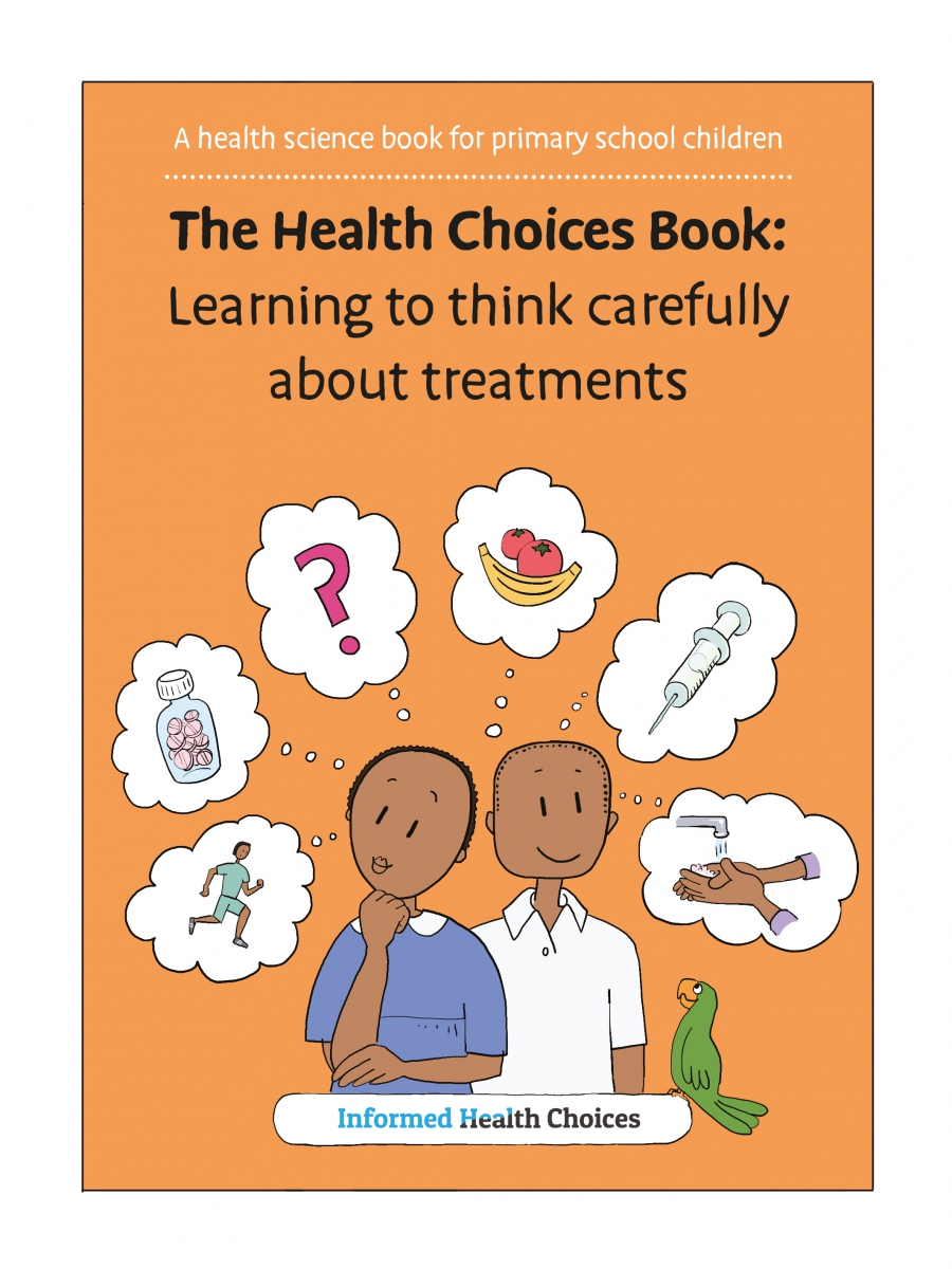 cover of comic text book about how to identify false health claims