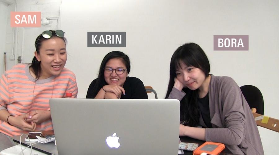 "Samantha Shao, Karin Kuroda and Bora Kim, the creators of ""I'm Making a Boy Band"""
