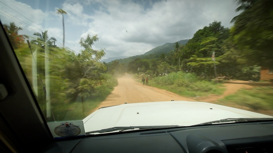"A truck navigates the ""wildlife-human interface"" in Tanzania's Kilombero Valley, where human and agricultural encroachment are disrupting the area's high biodiversity, creating a much higher risk for animal viruses to spill over to humans. It's one of man"