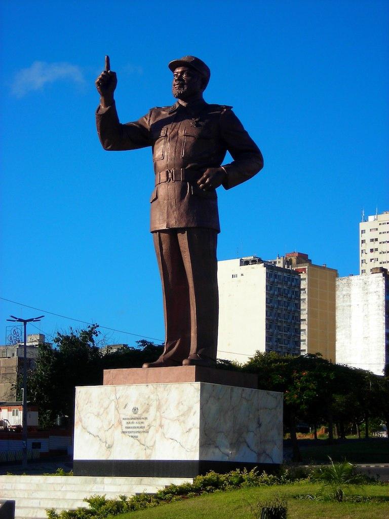 Samora Machel statue in Maputo, Mozambique.