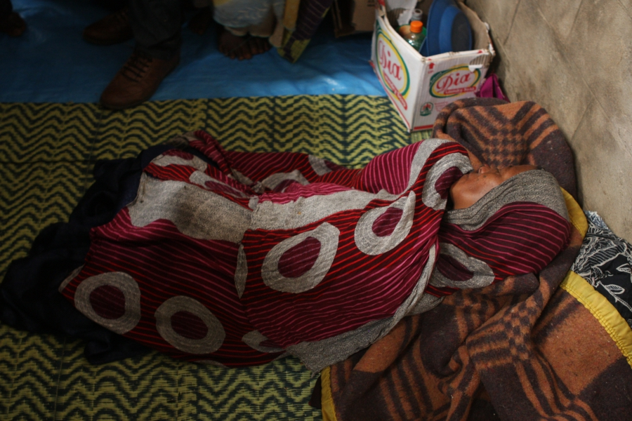 At a camp for displaced Oromo outside Harar, Ethiopia, this Oromo woman is catatonic with grief. She lost four children during the evictions from the Somali region, and has no idea of their whereabouts or condition.