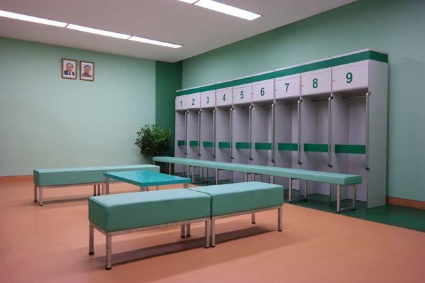An interior of the Rungrado 1st of May Stadium (1989, renovated 2014