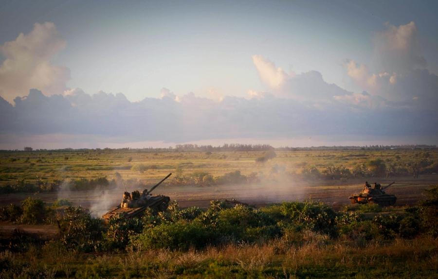 AMISOM troops battle Al Shabaab in Somalia