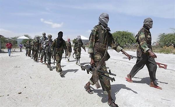Members of Al Shabaab on patrol