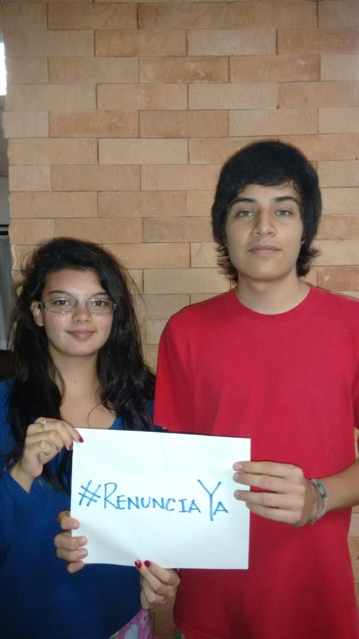 Fredy España and 17-year-old Ana Lucia Laparra are both activie participants in Guatemala's new protest movement.