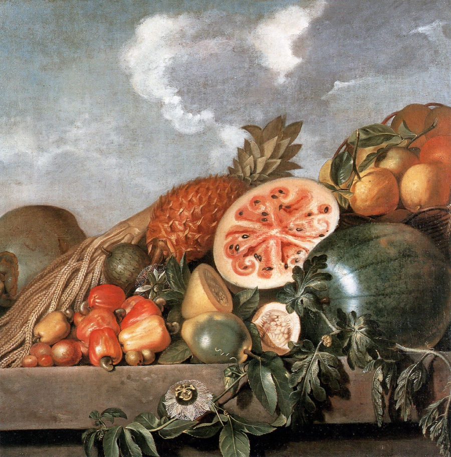 "Albert Eckhout ""Pineapple, watermelons and other fruits (Brazilian fruits)"" (circa 1610-circa 1666)"