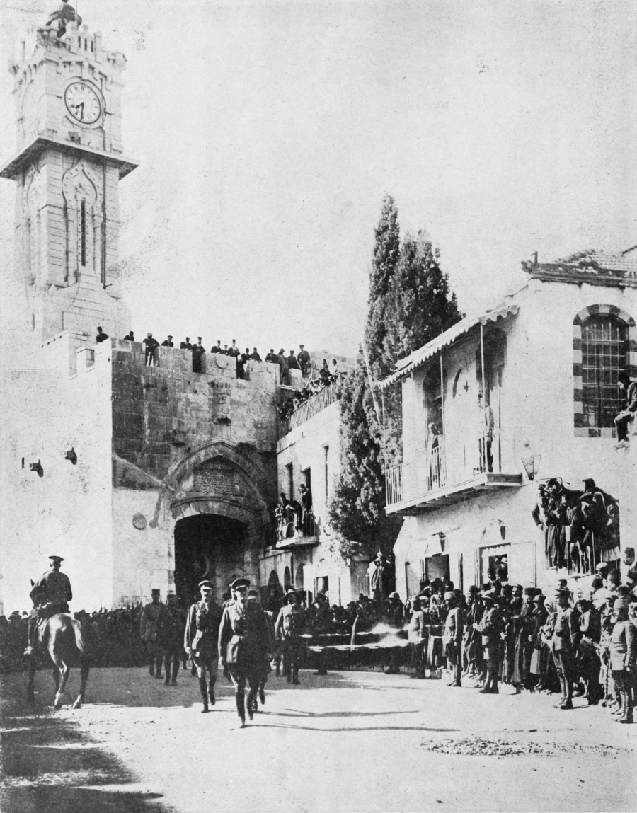 General Allenby entering Jerusalem on foot, Dec 11th 1917