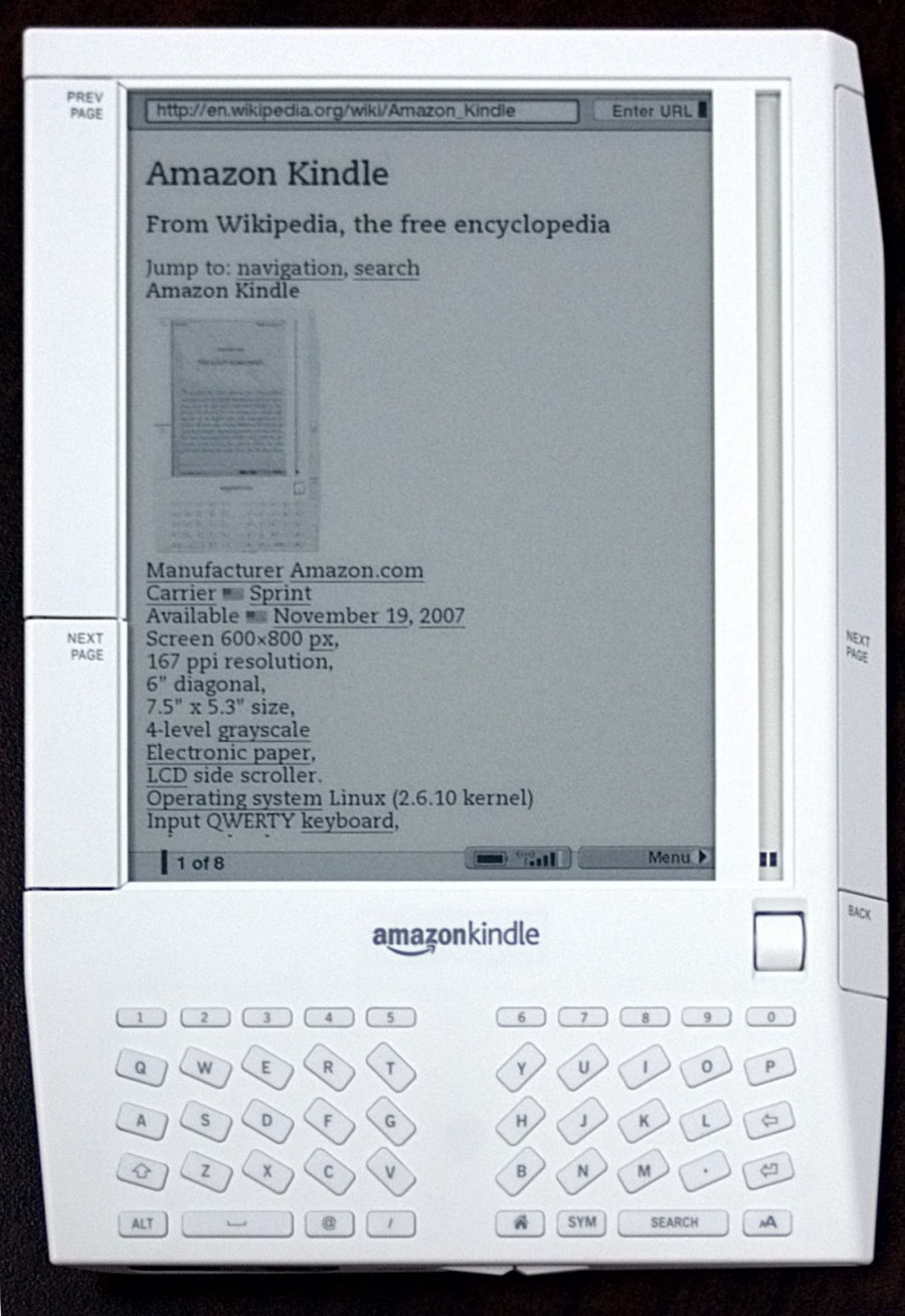 first generation of the Amazon Kindle