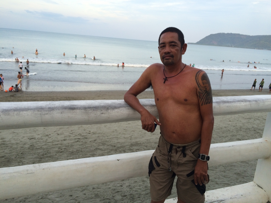 Edwin Namoro claims he was one of the Philippines' first surfers after an Apocalypse Now crew member left behind a board for him and his friends.