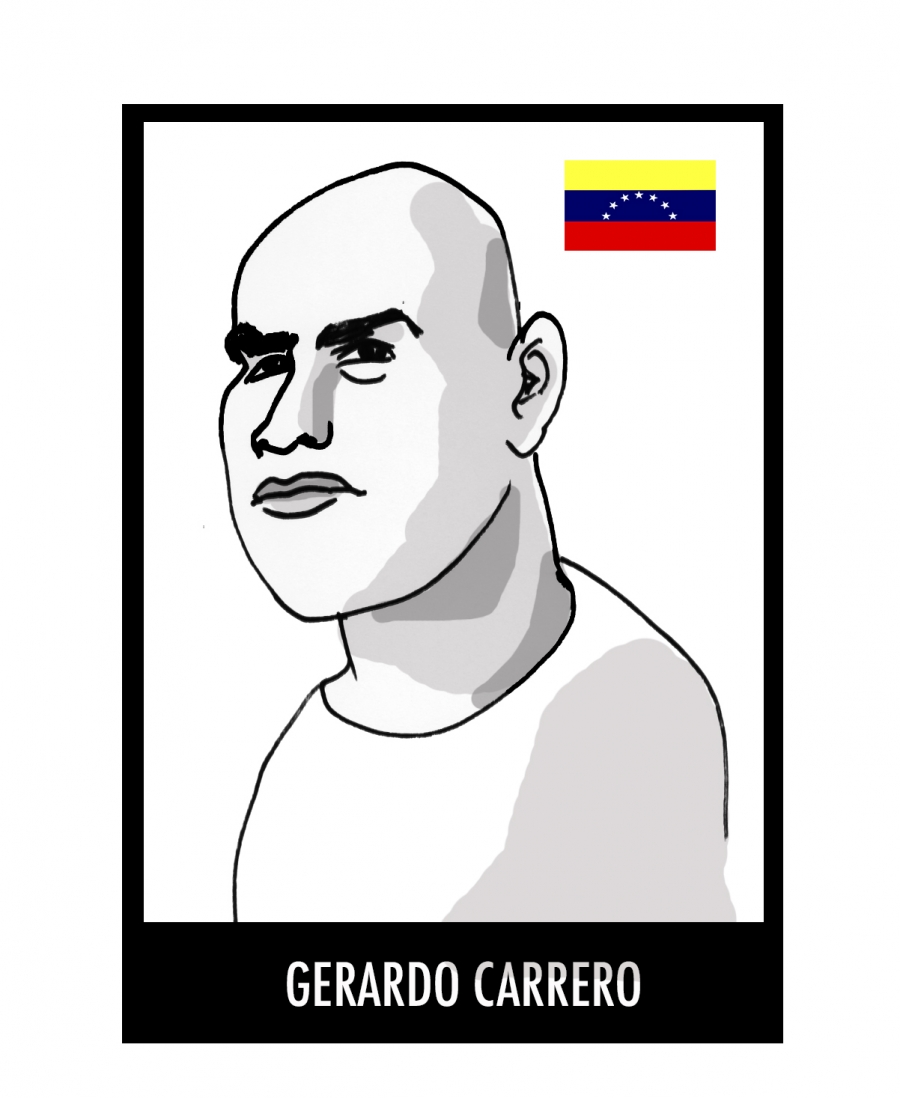 Gerardo Carrero, a Venezuelan political prisoner who has been jailed since August 5, 2014.