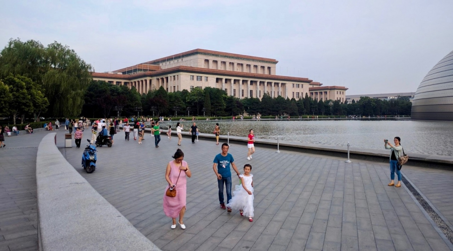 Outside the Great Hall of the People, near Beijing's Tiananmen Square