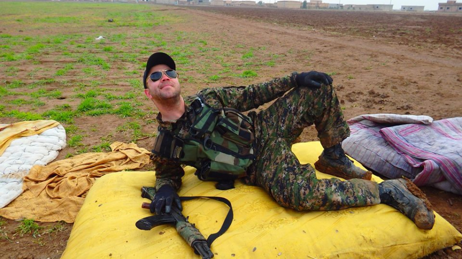 US army veteran Buck Clay in Rojava, an area in northern Syria under the control of YPG Kurdish militia.