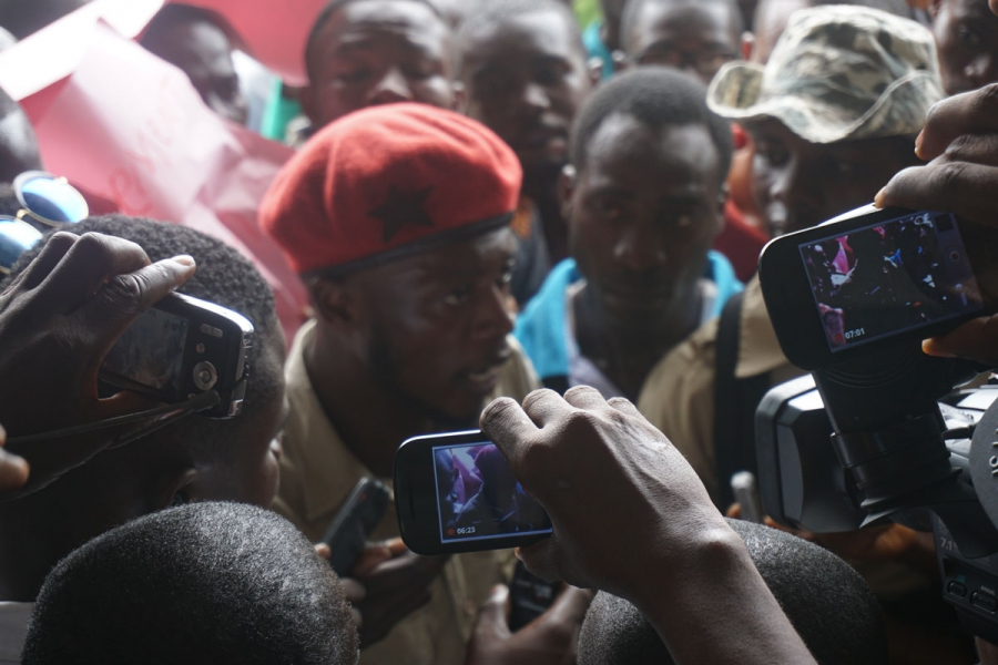 Jefferson launched a digital news outlet in Liberia called the Bush Chicken. Here is a photo he took while on assignment, covering a student protest against proposed tuition hikes at the University of Liberia.