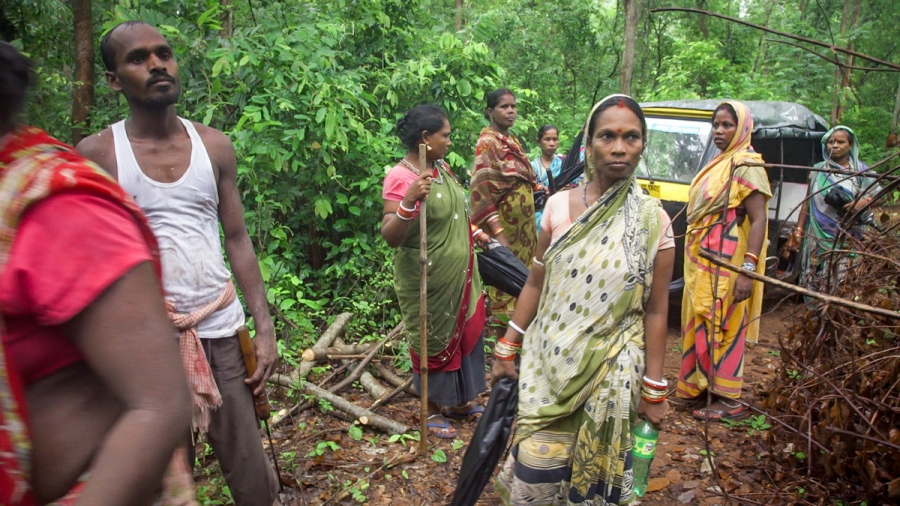Outside Ghunduribadi, the women's patrol nabbed three poachers from a nearby village, and brought them to their village council for disciplinary action. The women said that if not for the presence of the reporter's camera and recorder, they would've beate