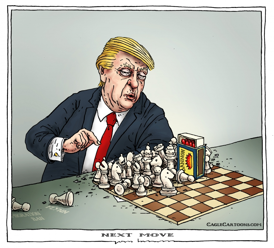 Trump playing chess