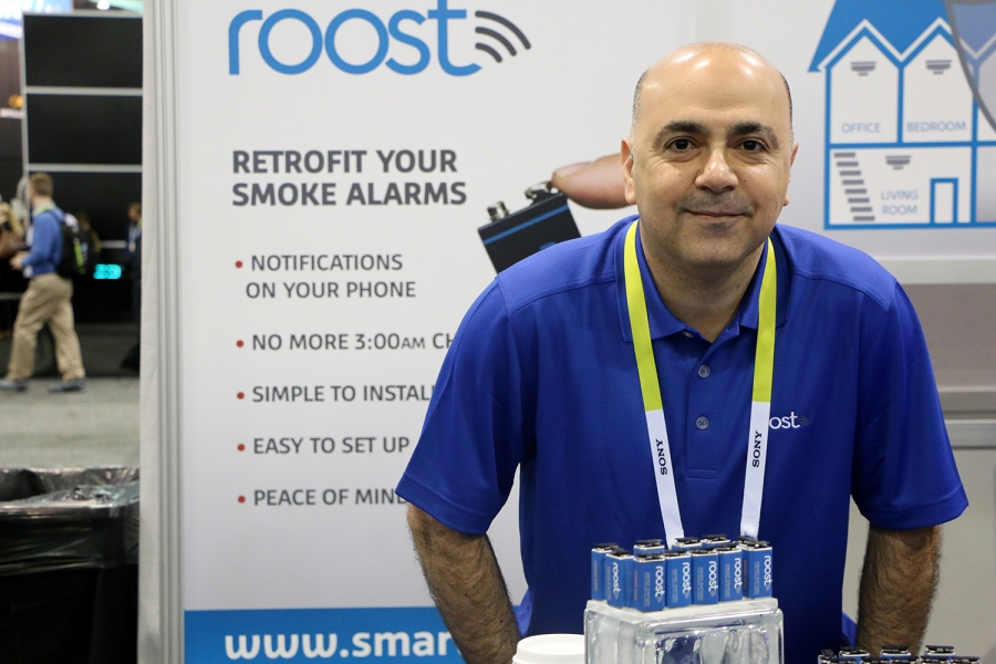 """Roost says it's found a way to make at least one gadget """"smart"""" and green without having to actually buy a new gadget. It's embedded a computer in a 9-volt smoke detector battery, an innovation that VP Mickey Nasiri says will let the alarm communicate wit"""