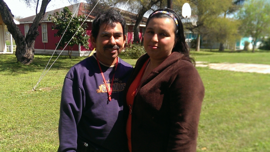 Jose and Norma Adalpe. Jose built their family's home just before Hurricane Dolly hit.