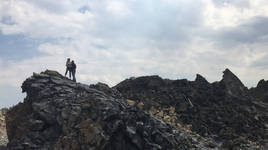 Tina and Tom Sjogren have been hiking around the lunar-like landscape of Obsidian Dome as part of their DIY preparation for space exploration.