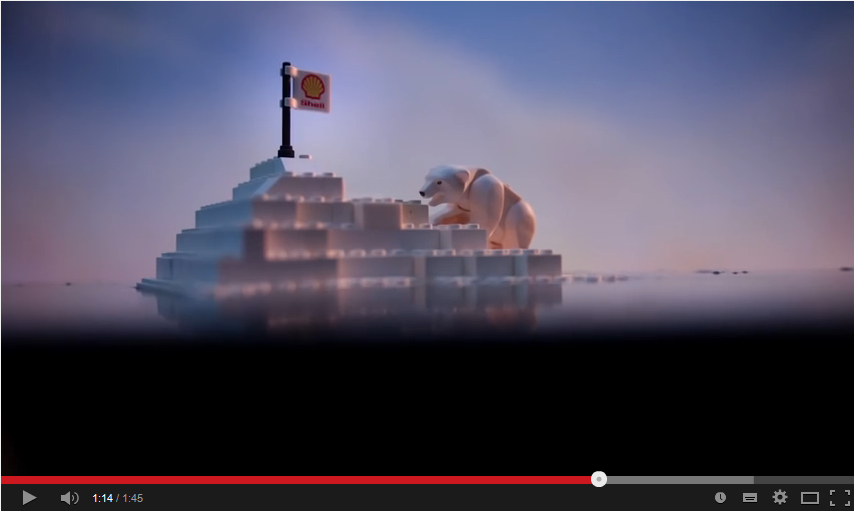 This 2014 Greenpeace video of an oil spill engulfing the Arctic was part of a successful campaign to get LEGO to cut its promotional ties to the oil company Shell.