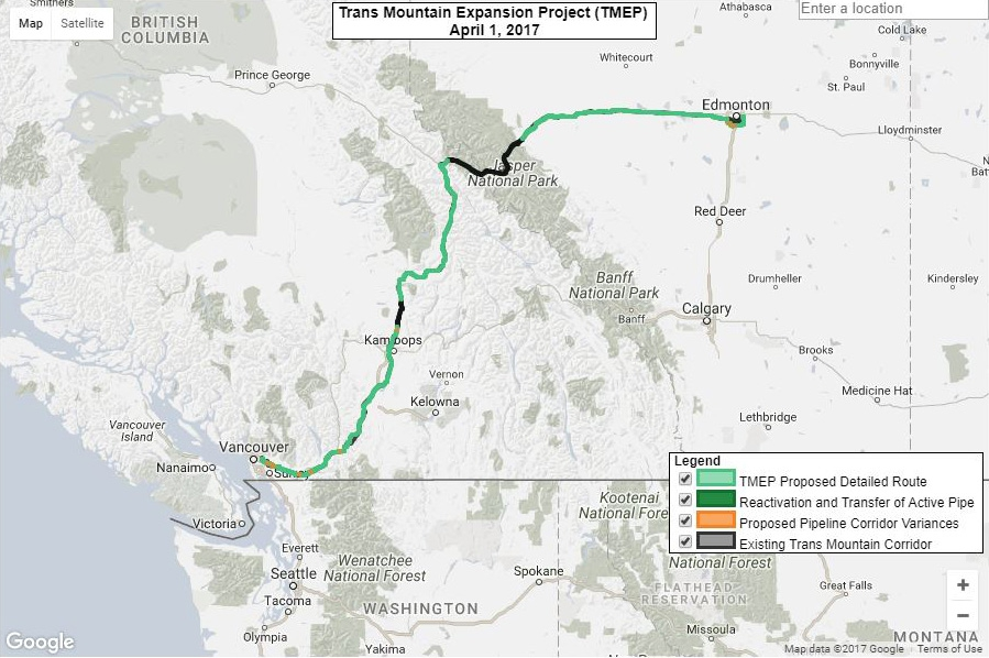 The new TransMountain pipeline would increase the flow of oil from Alberta to the tanker terminal in British Columbia more than six-fold. Along the way it would cross through First Nations territory, leading many native groups to sue to stop it.