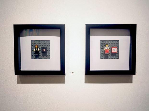 Framed Lego minifigs