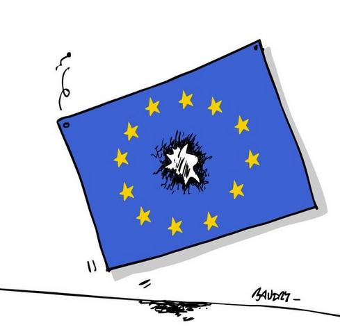 Cartoon of EU flag