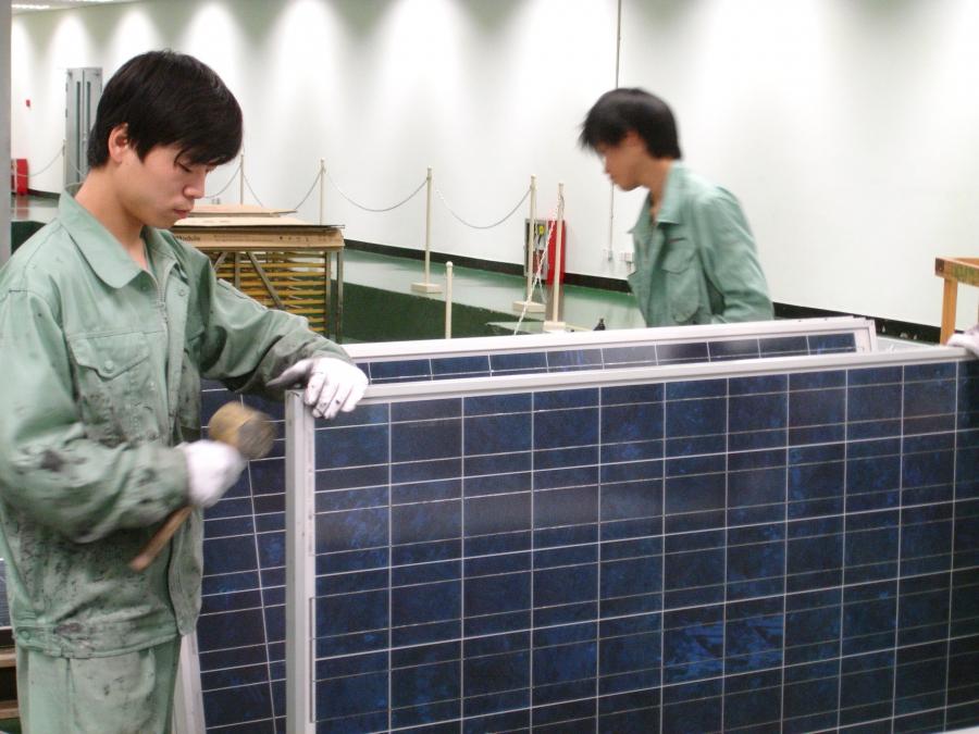 China solar panel factory