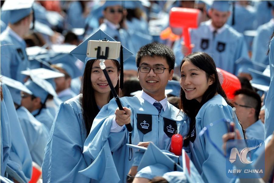 Chinese graduates at Columbia University
