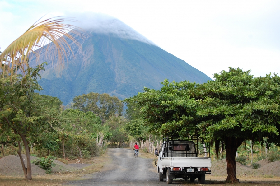 The active volcano Concepcion towers over the Charco Verde nature reserve on Ometepe Island. The island is just north of the planed canal route and could see its communities and ecological systems radically altered.