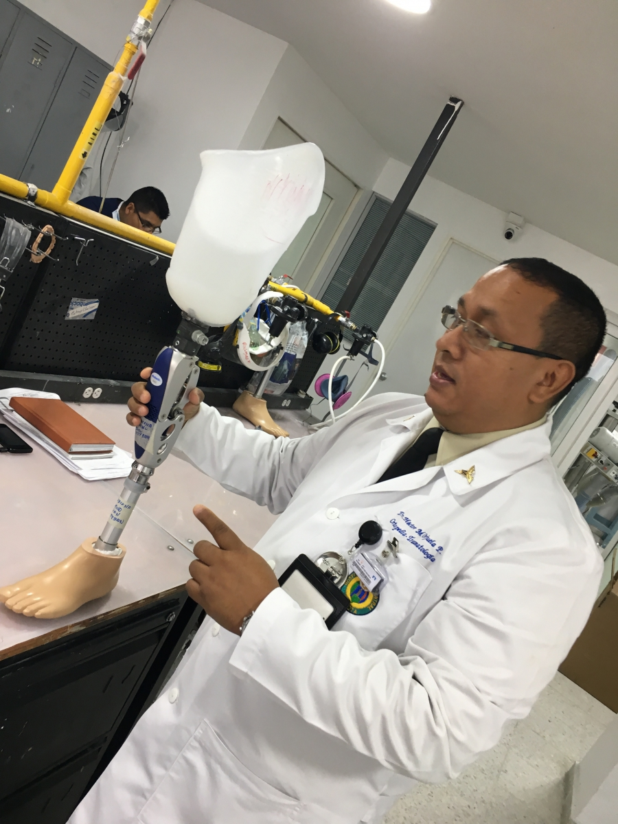 Colonel Héctor Orjuela is the director of Amputee and Prosthetics Services at the Central Military Hospital in Bogotá.