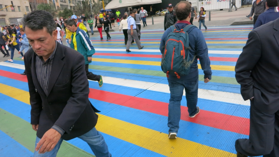 Small changes like colorfully-painted, extra-wide crossing zebras have made Bogotá a much safer city.