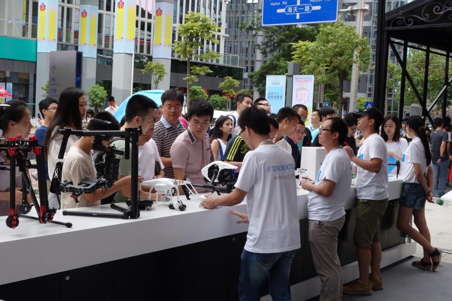 Shenzhen 2015 Maker Faire booth for Shenzhen drone company DJI