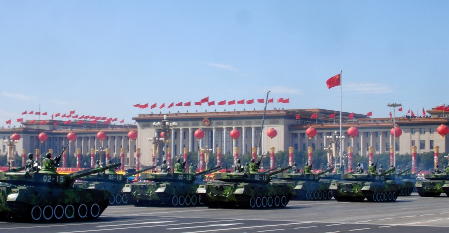 Chinese military parade past Beijing's Tiananmen Square