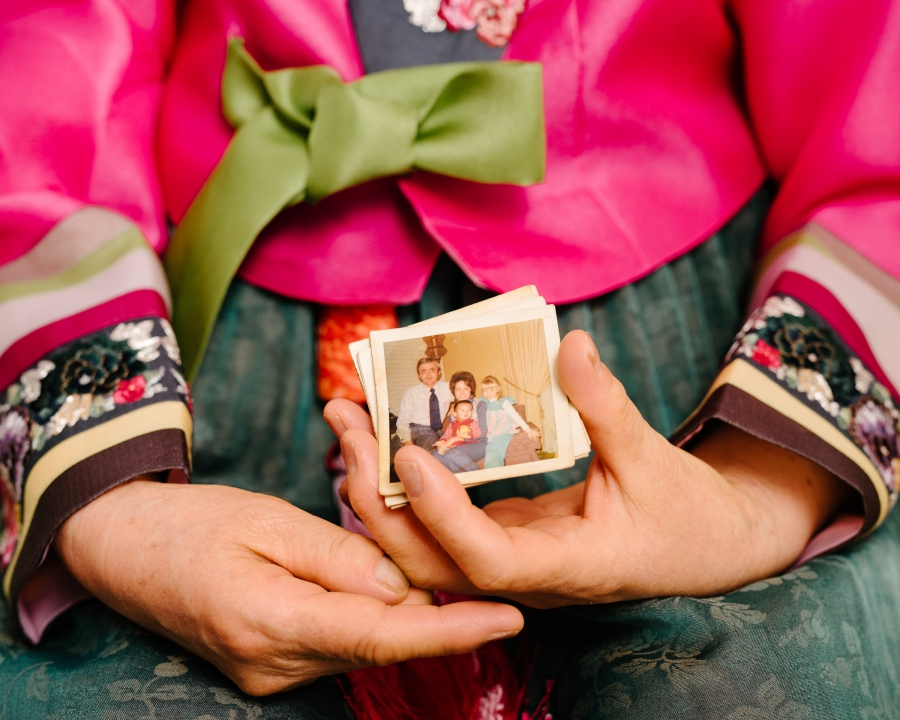 Fostervold's mother kept photos of him with his adoptive family in Minnesota for decades.