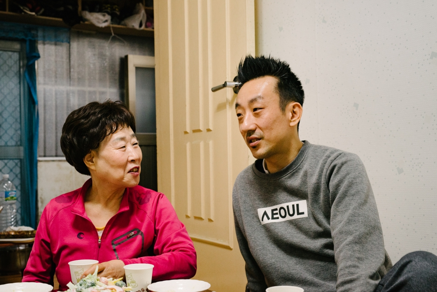 Kim Sook-nyeon and her son Layne Fostervold spend a lot of time together at home in Seoul. The way she takes care of me, he says, I can tell that she's my mother.