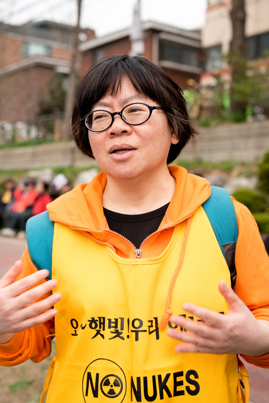 Kim Hyun-choo, who also goes by her Christian name of Maria, says the anti-nuclear campaign wants the South Korean government to stop building new nuclear plants, and close the outdated ones.